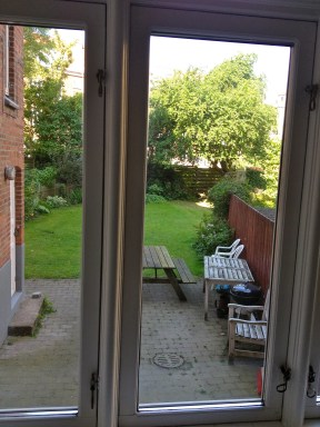 The view from our bedroom onto the courtyard.