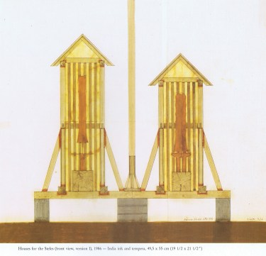 Pichler, Walter. Houses for the Steles, Section (1986)