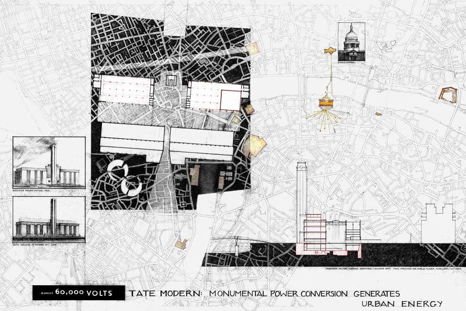 Tate Modern Study Drawing, by K. Conty (2006)