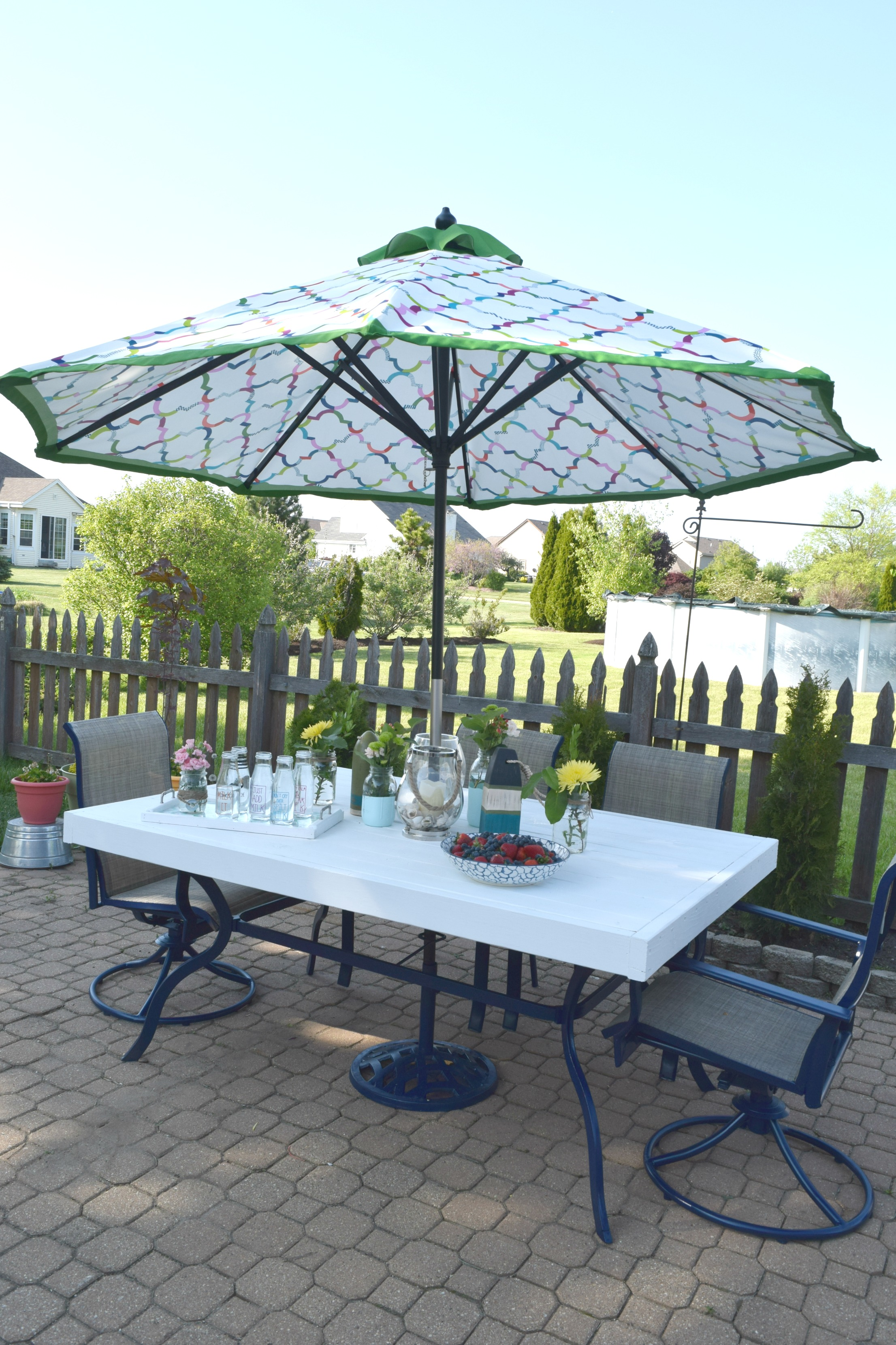 patio table upcycle low cost and
