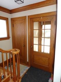 Original coat closet and double entry doors