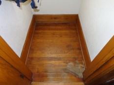 Coat closet floor damage