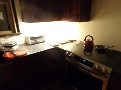 LED task lighting, northeast corner