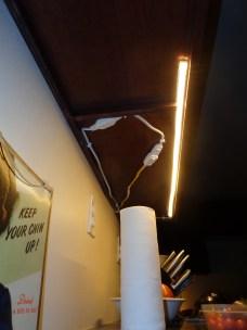 LED strip light, east wall