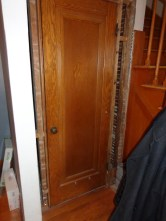 Powder room door used to be a closet door