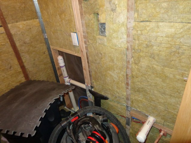 Insulation in place, outlet in approved place