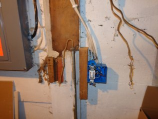 New 3-way switch in basement, temporarily mounted
