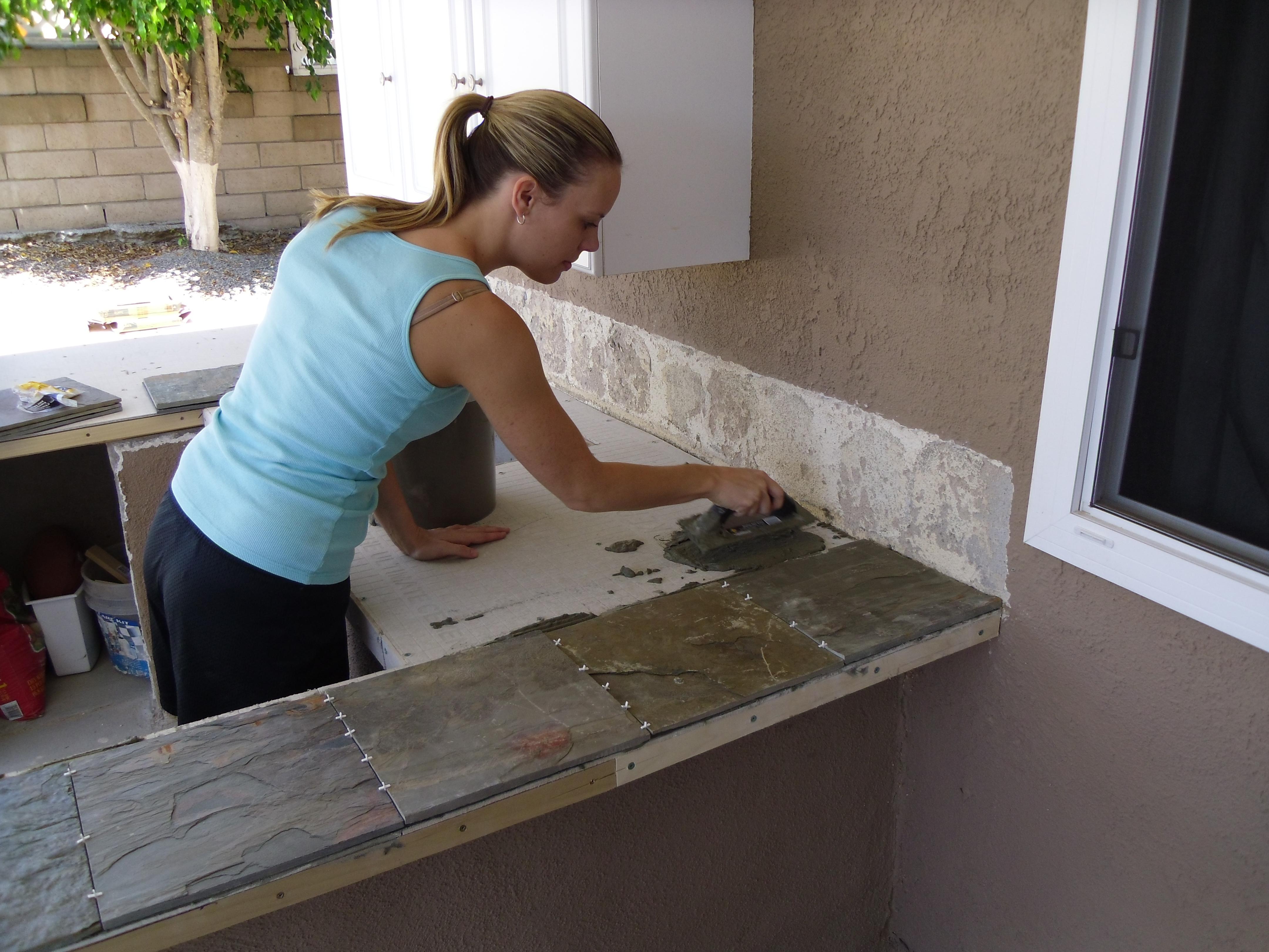 bbq island outdoor kitchen reveal