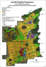 Innisfil Heights, Town of Innisfil Expansion Maps
