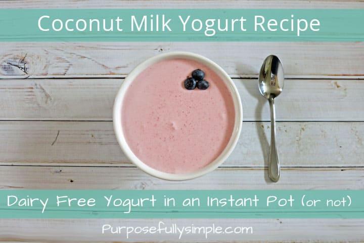Coconut Yogurt Recipe: Dairy Free Yogurt in an Instant Pot