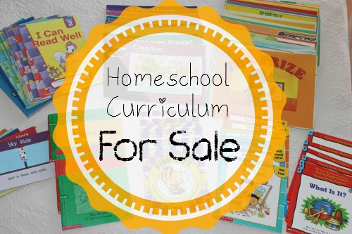 Lots of homeschool curriculum is for sale - all ages and all subjects!