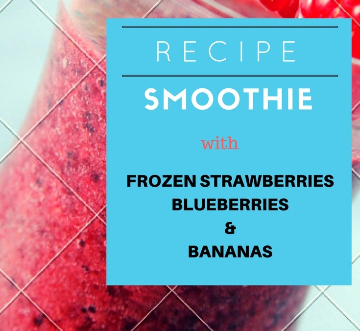 Making Smoothie With Frozen Strawberries, Blueberries & Bananas