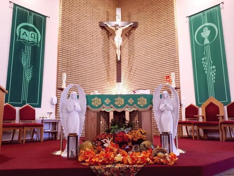 Our Lady of Peace - Catholic Church - Old Photos - Innisfail, Alberta