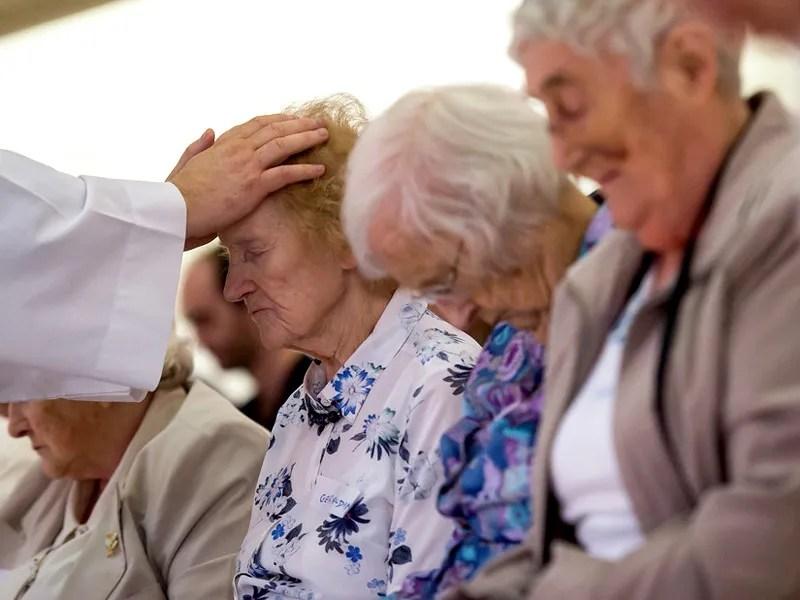 Our Lady of Peace - Catholic Church - Anointing The Sick - Innisfail, Alberta