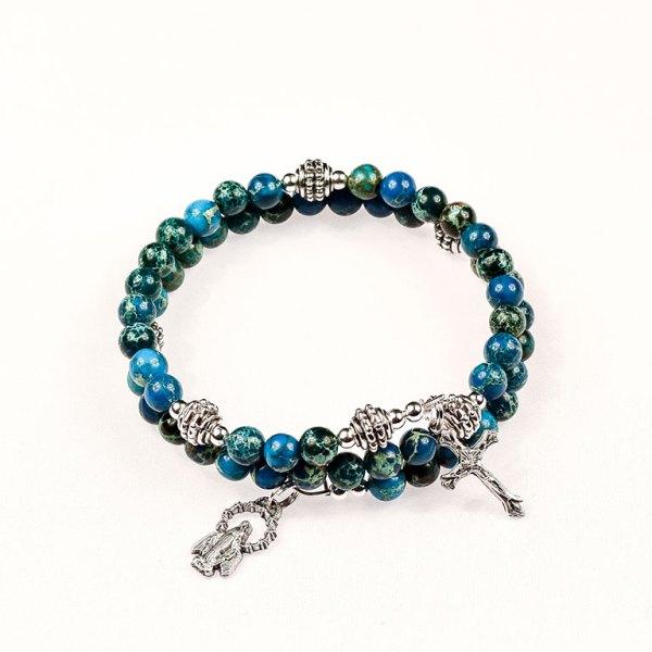 Natural Gemstones Blue Impression Jasper