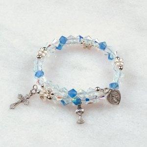 Full of Grace First Communion Rosary Bracelet