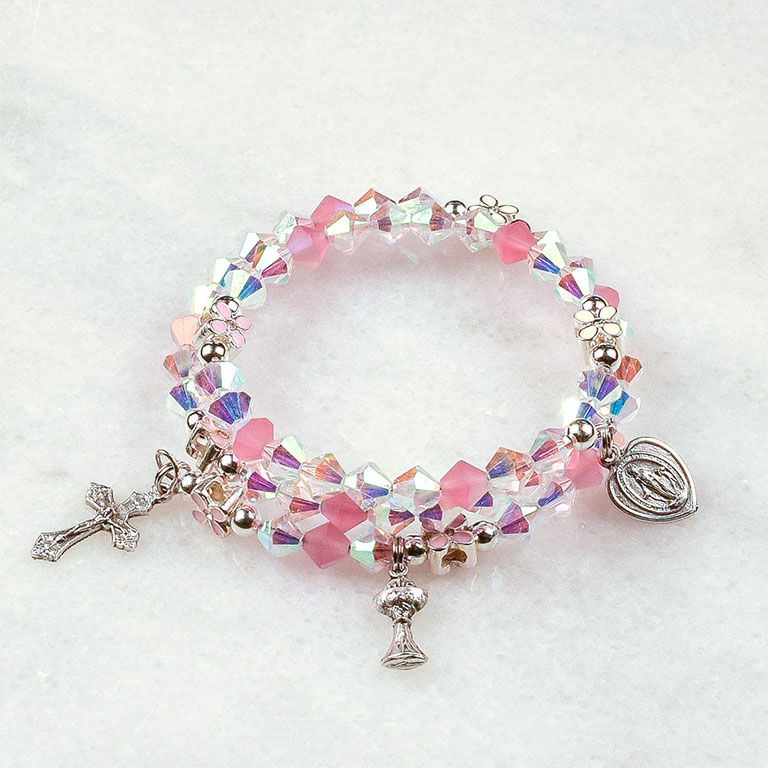 Precious Girl First Communion Rosary Bracelet