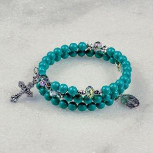 Jade Pearl Rosary Bracelet