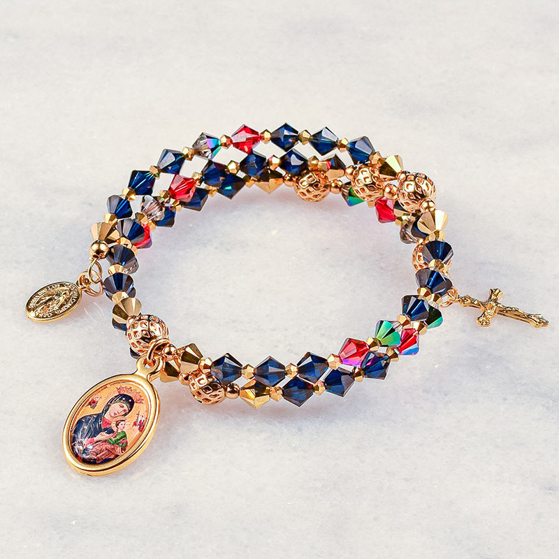Our Lady of Perpetual Help Rosary Bracelet