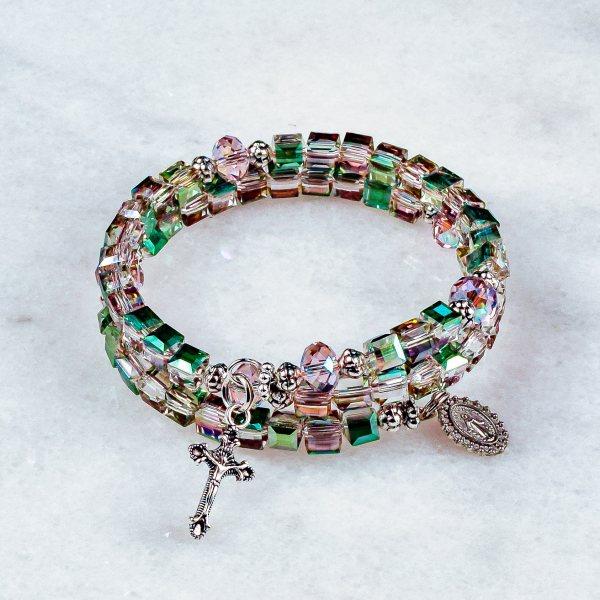 Spring Rain Drops Rosary Bracelet