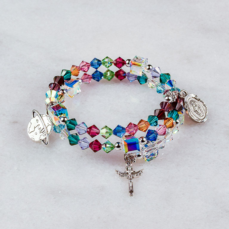 Mary Mother of All Peoples Rosary Bracelet