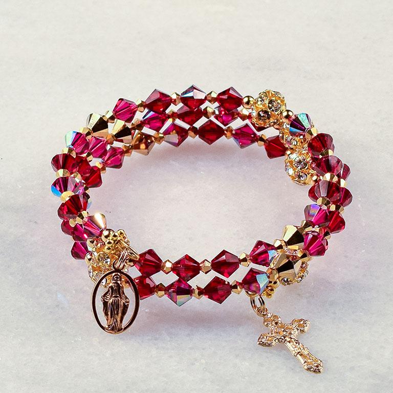 Adeste Fidelis Rosary Bracelet