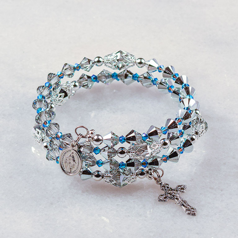 Silver Bells Rosary Bracelet
