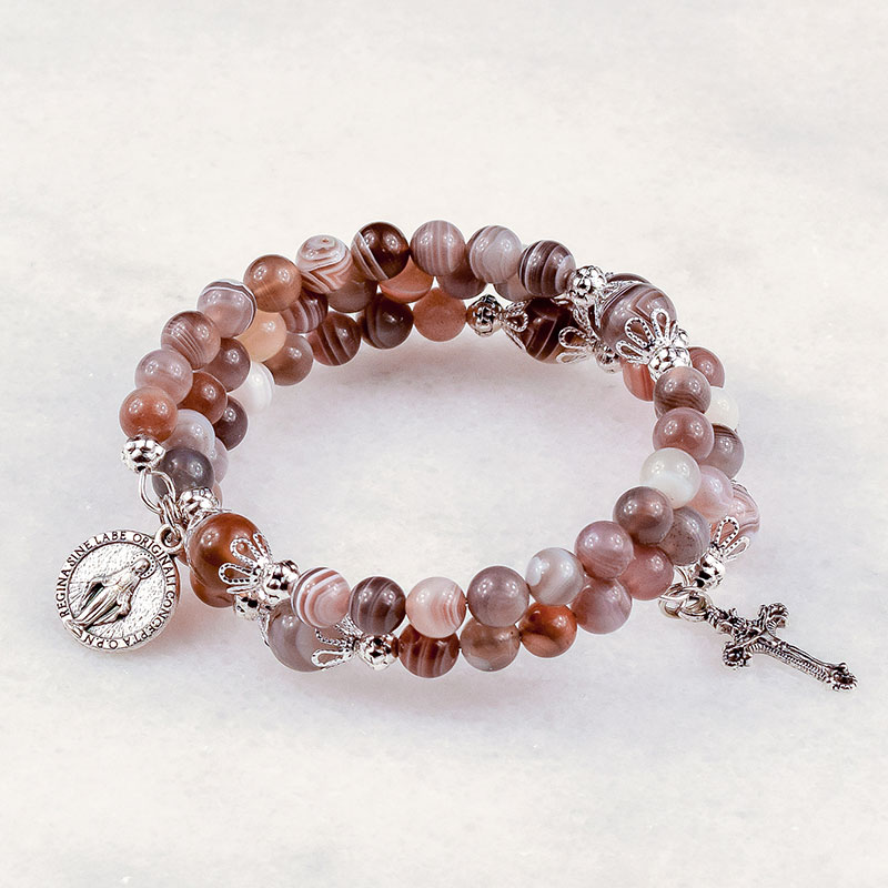 Botswana Agate Rosary Bracelet