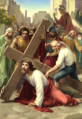 Gesù cade la prima volta