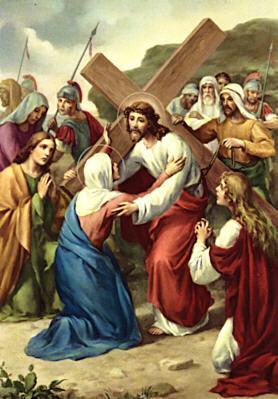 Gesù incontra sua Madre Santissima