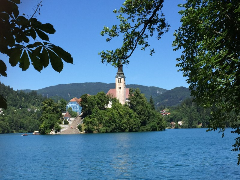You could only describe Bled as out of this world, with its crystal clear emerald green waters and a back drop of snow capped mountains. I think we're already in love !