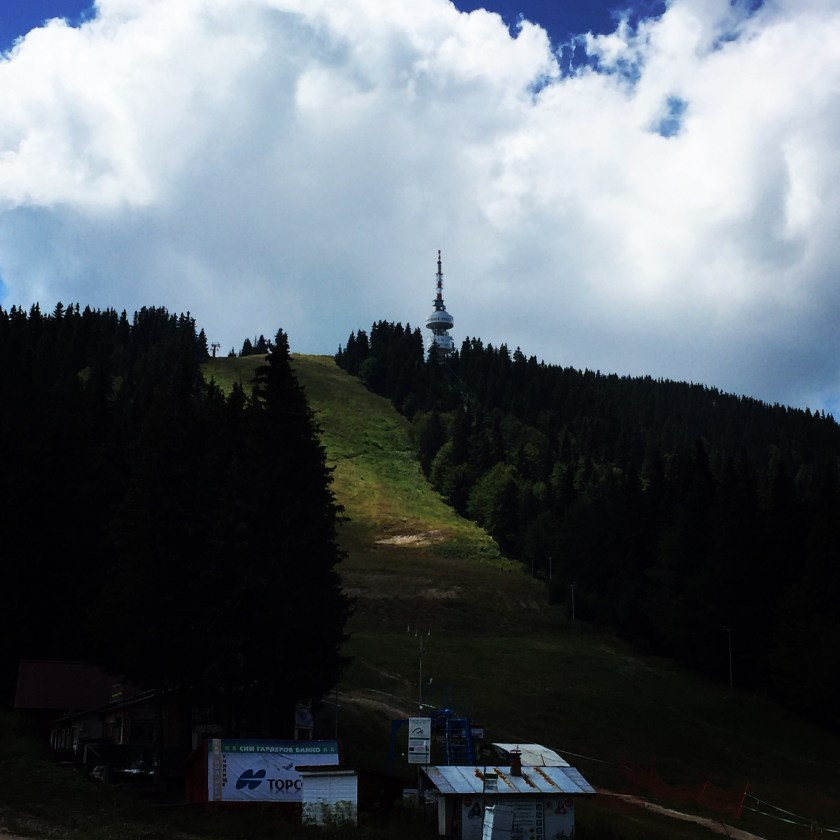 View towards the tower in pamporovo