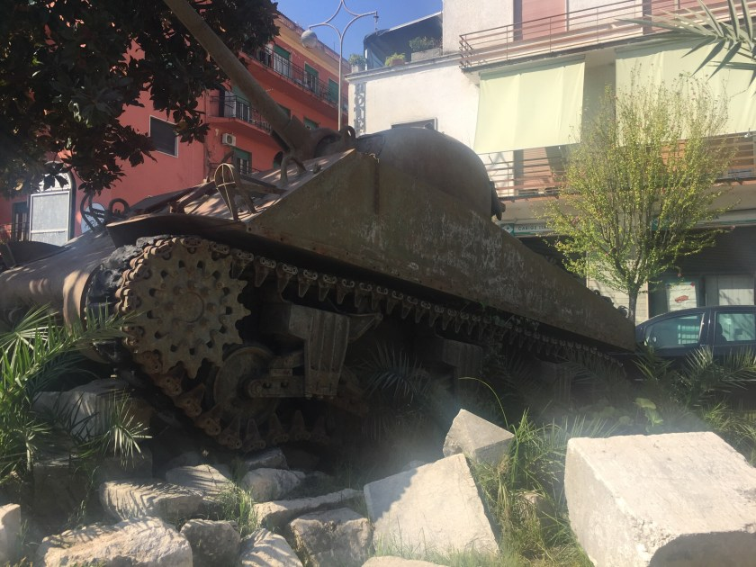Town centre Tank in Monte Cassino, Italy