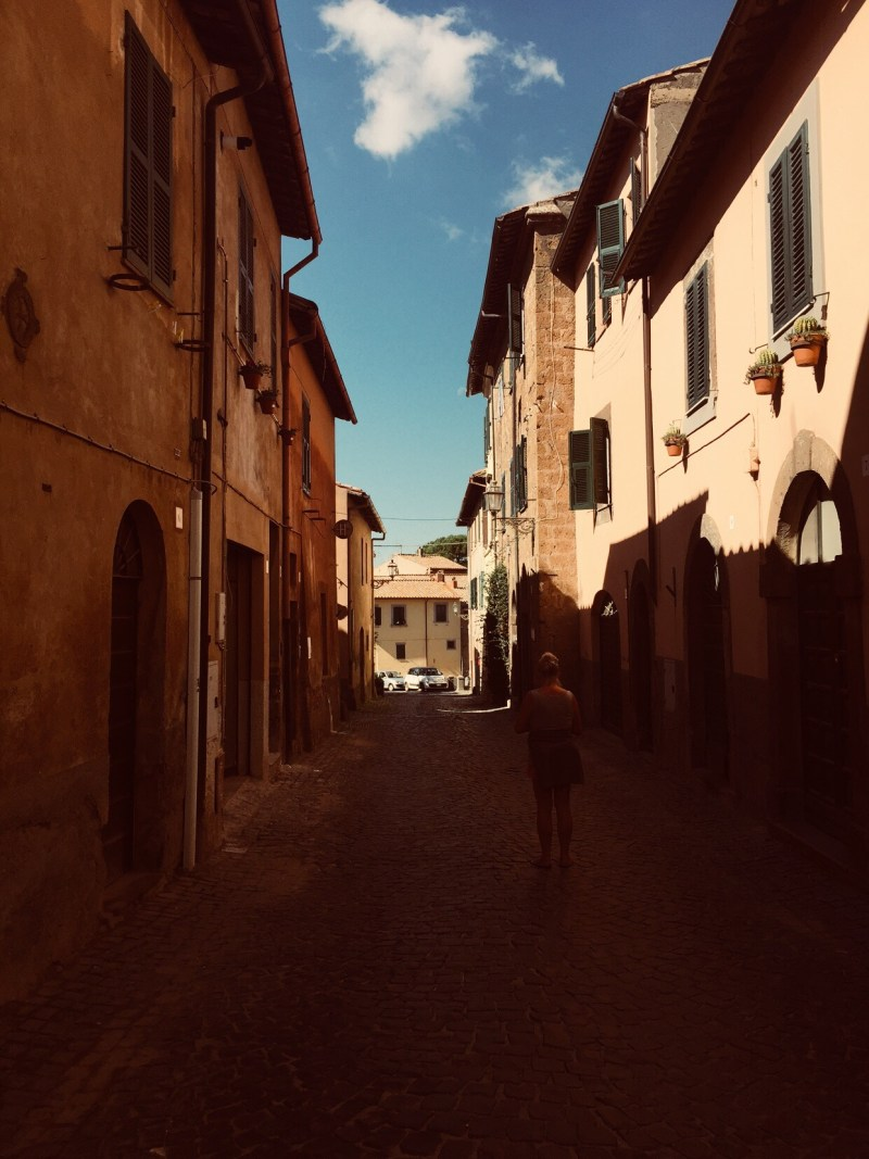 Maze of tiny streets to get lost in , Tuscania, Italy