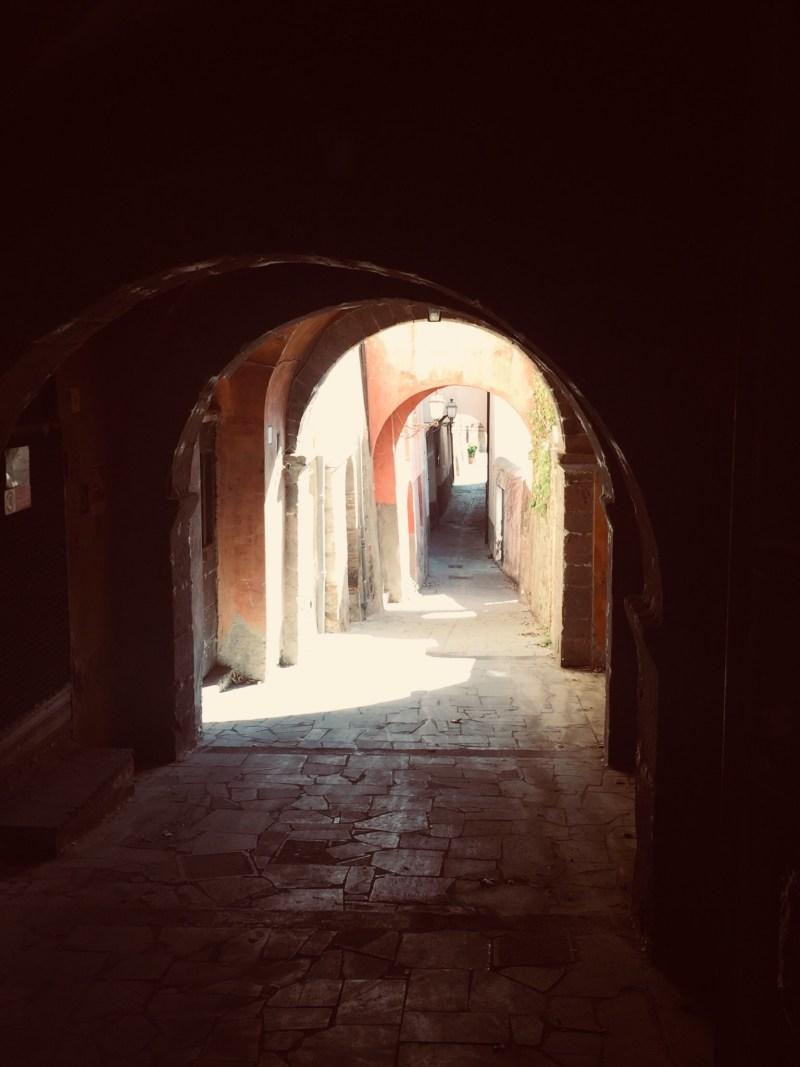Ahh a tunnel, Tuscania, Italy