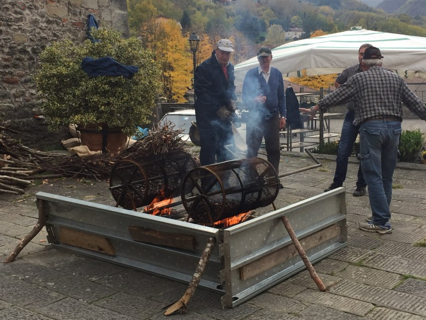 Chestnut roasting on an open fire , Castelnuovo di Garfagnana, Italy - epic motorhome blog