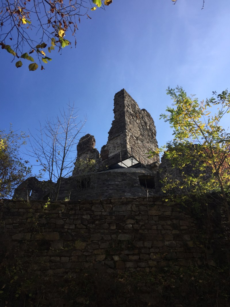 Ruined castle- Italy by motorhome