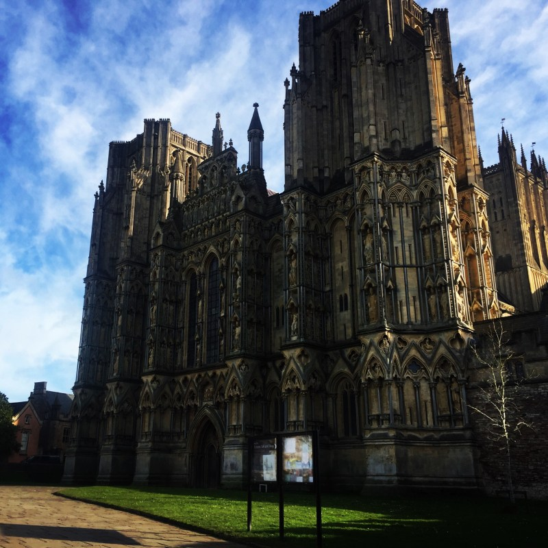Wells cathedral, a short 5 mile drive from our campsite where we are working as campsite Wardens