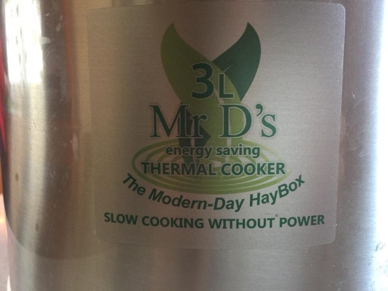 Mr d thermal cooker, the modern day hay box