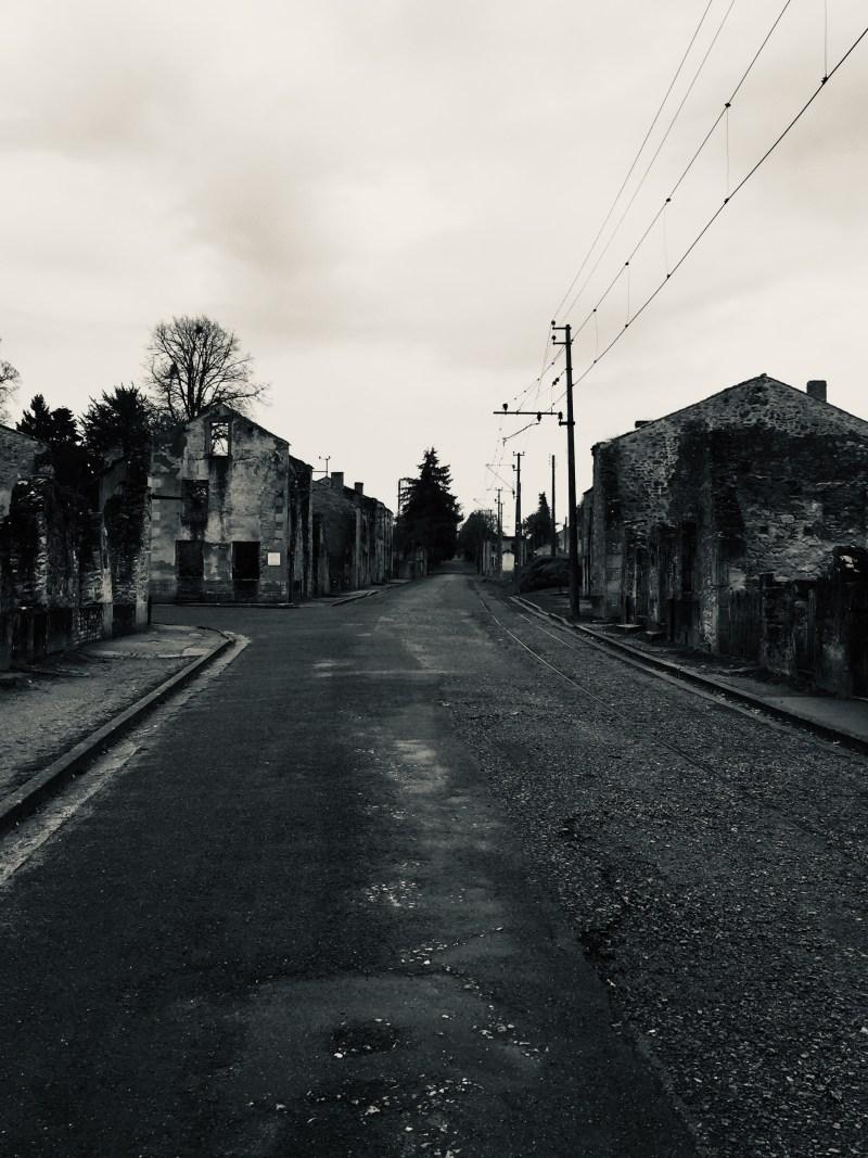Sad sad day in Oradour-Sur-Glane by motorhome