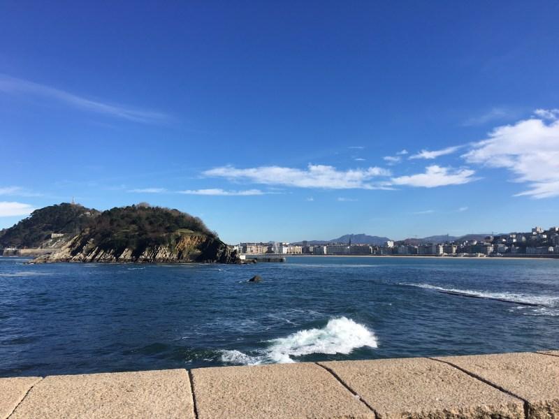 Spain in January is motorhome heaven , La Concha Bay