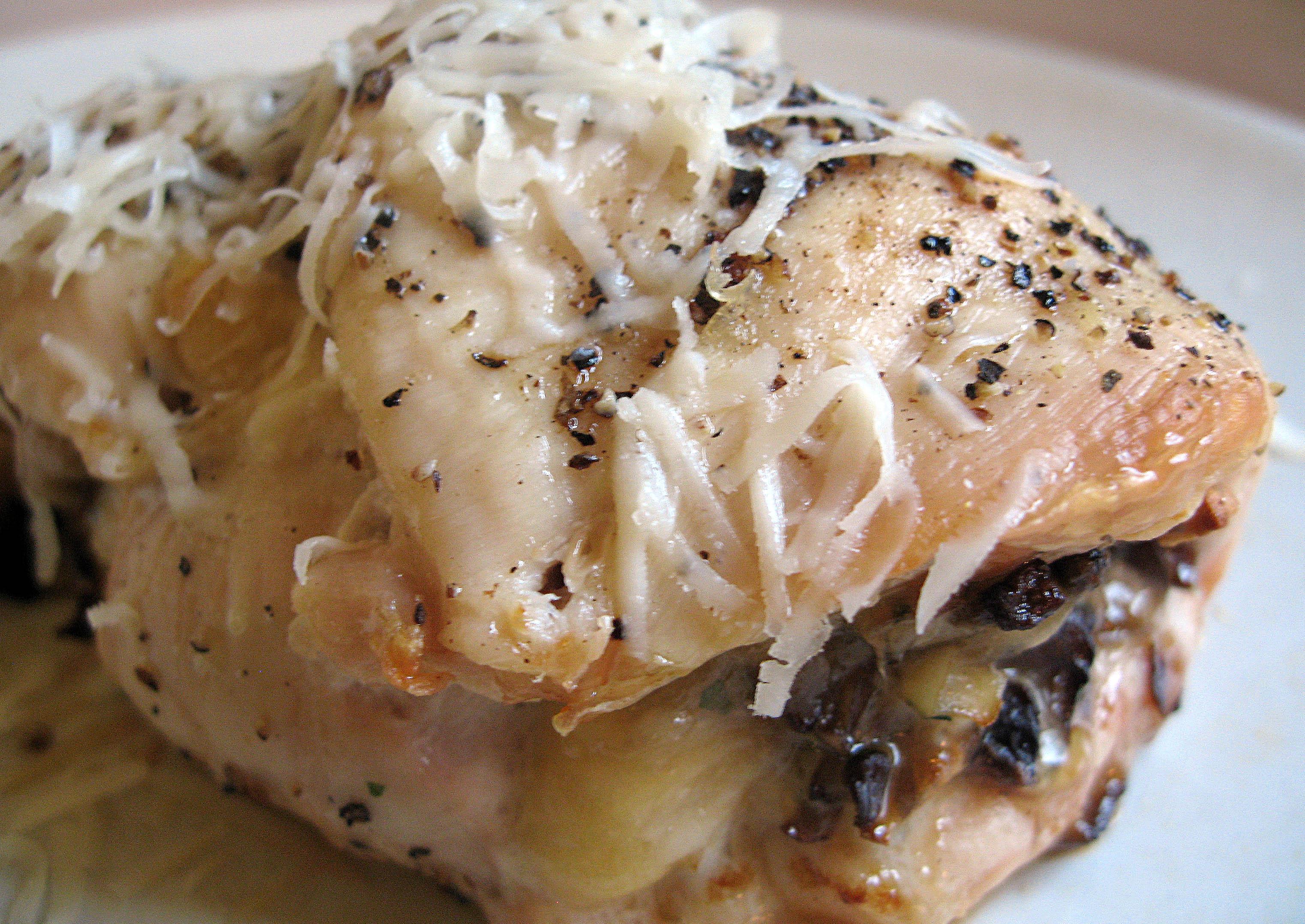 Mushroom and Parmesan Stuffed Chicken