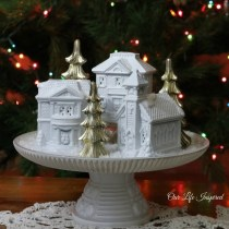 Winter village. www.ourlifeinspired.com
