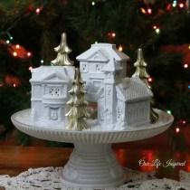 Winter village. www.ourlifeinspired.com