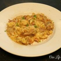 Chicken Cordon Bleu Casserole www.ourlifeinspired.com