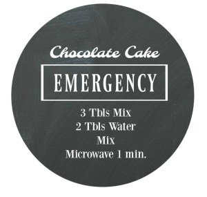 Free Printable. Chocolate Cake Emergency | www.ourlifeinspired.com