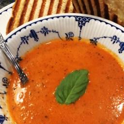 Creamy Tomato Soup with a Gruyere & Thyme Panini.