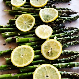 Roasted Asparagus with Lemon, Garlic & Red Pepper Flakes.