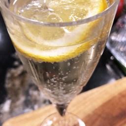 Lemon & Elderflower Champagne Cocktail.