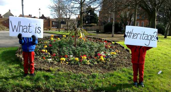 Is this #heritage? A civic flower display in Gainsborough.